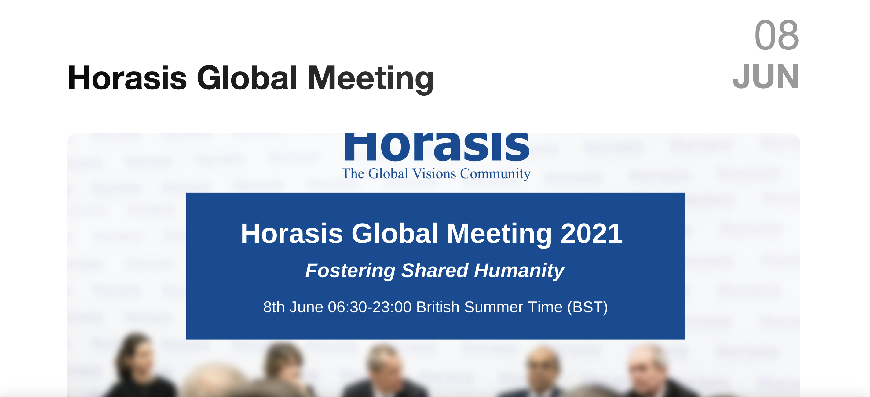 Our UK Company Director Jarvous C Speaks At Horasis Global Meeting On The 8th Of June 2021